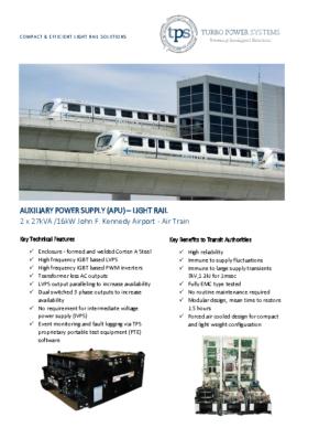 APU JFK AIR TRAIN LIGHT RAIL