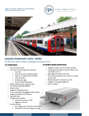 APU Metro – London Underground Central Line