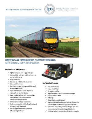BATTERY CHARGER FOR DMUS