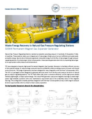 Gas Expander Generator Datasheet