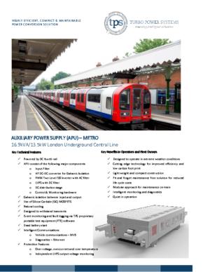 TPS – APU London Underground – Central Line – Al