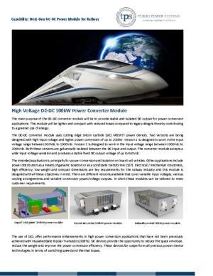 TPS Next Gen DC-DC Power Converter Module