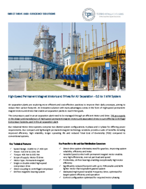 High-speed Motors and Drives for Air Separation