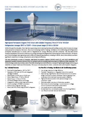 High-speed Motors and Drives for HVAC and Refrigeration